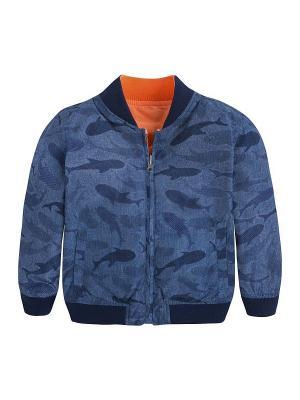 Ветровка Mayoral. Цвет: синий, оранжевый