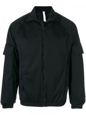Куртка-бомбер с плиссированными рукавами Cottweiler. Цвет: чёрный