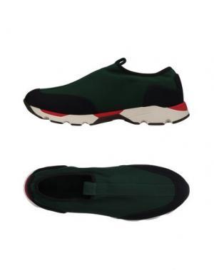 Низкие кеды и кроссовки MARNI. Цвет: зеленый