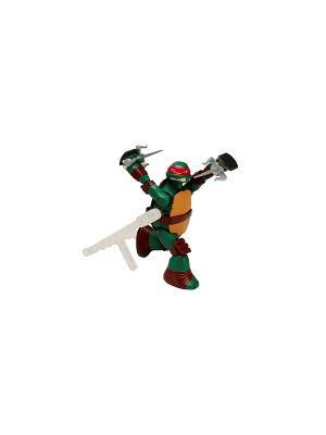 Заводная фигурка Черепашки-ниндзя 15см Суперповорот Рафа Playmates toys. Цвет: зеленый, коричневый