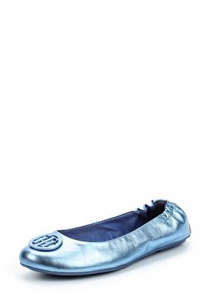 Балетки Tommy Hilfiger. Цвет: голубой