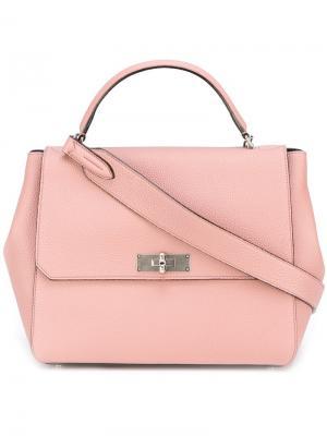 Классическая сумка-тоут Bally. Цвет: розовый и фиолетовый