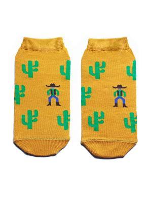 Носки укороченные Big Bang Socks. Цвет: горчичный