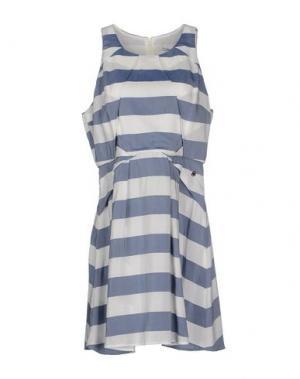 Короткое платье FAIRLY. Цвет: грифельно-синий