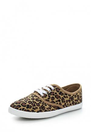 Кеды Ideal Shoes. Цвет: бежевый