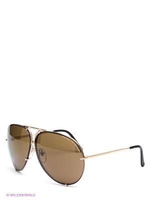 Солнцезащитные очки Porsche Design. Цвет: коричневый, черный