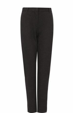 Однотонные хлопковые брюки прямого кроя Hanro. Цвет: темно-серый