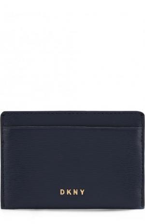 Кожаный футляр для кредитных карт DKNY. Цвет: синий