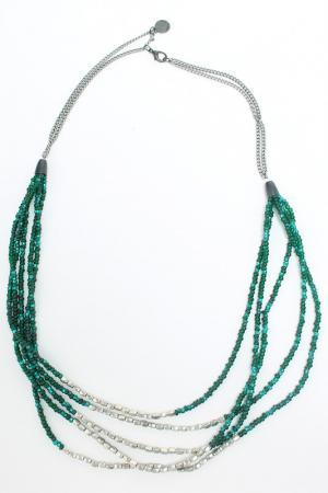 Ожерелье Elena Miro. Цвет: зеленый, серый