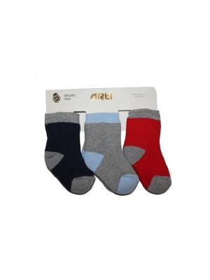 Носки махровые, 3 шт. ARTI. Цвет: синий, серый, красный