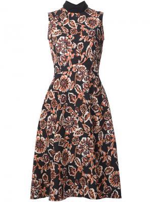Платье с цветочным принтом Rodarte. Цвет: чёрный