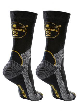 Носки, 2 пары. Цвет: 2x черный/серый/желтый