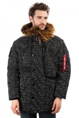 Куртка парка  X Alpha Polar Jacket Black/White Speckles K1X. Цвет: черный,белый