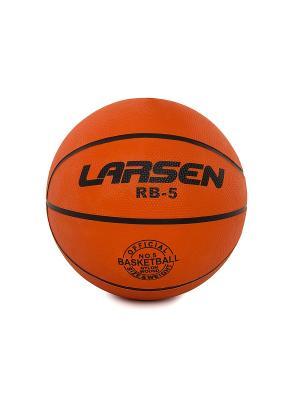 Мяч баскетбольный RB (ECE) Larsen. Цвет: рыжий, черный
