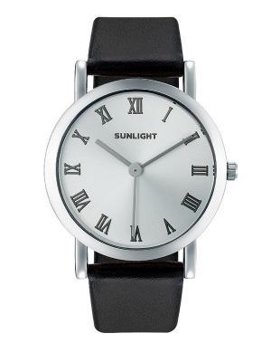 Часы наручные Sunlight. Цвет: черный, серебристый