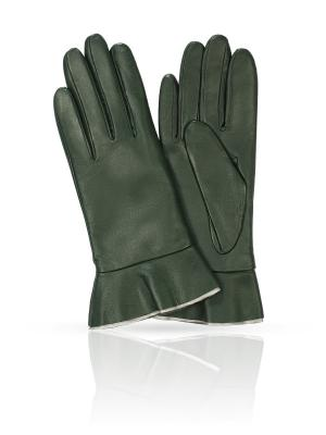 Перчатки MICHEL KATANA`. Цвет: темно-зеленый