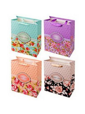 Пакет подарочный бумажный KONONO. Цвет: фиолетовый