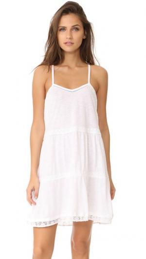Сорочка White It Out PJ Salvage. Цвет: белый