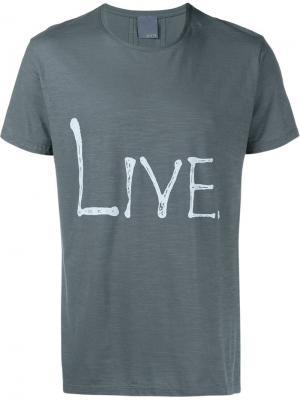 Футболка с принтом Live Lot78. Цвет: серый