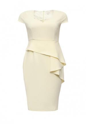 Платье Just Joan. Цвет: бежевый