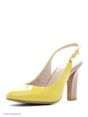 Туфли Calipso. Цвет: желтый