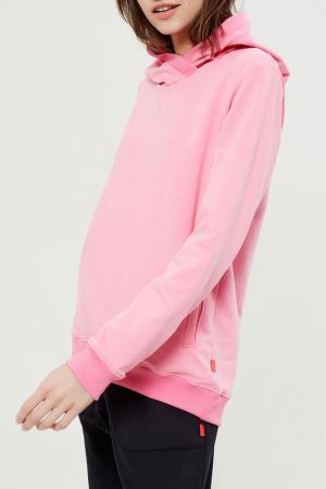 Толстовка с капюшоном Lava. Цвет: розовый