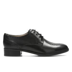 Ботинки-дерби кожаные Netley Rose CLARKS. Цвет: черный