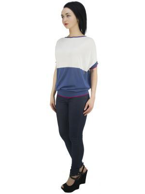 Блузка OROBLU. Цвет: синий, белый