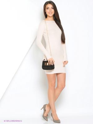 Платье Monlaydia. Цвет: бежевый