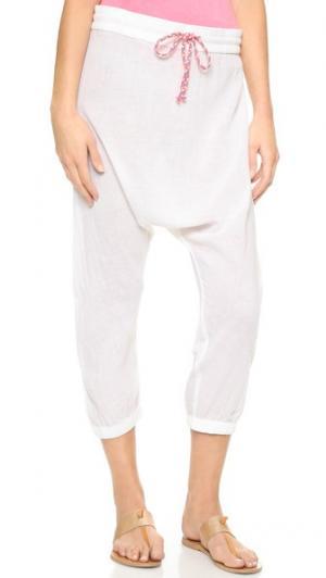 Пляжные брюки в восточном стиле Surf Bazaar. Цвет: белый