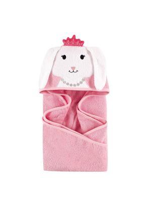Полотенце с капюшоном Hudson Baby. Цвет: розовый