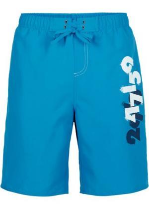 Мужские купальные шорты (бирюзовый) bonprix. Цвет: бирюзовый