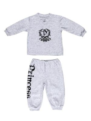 Пижама NICE-KID. Цвет: серый меланж