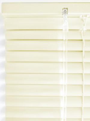 Жалюзи алюминиевые горизонтальные, бежевый, размер: 120х160 см Эскар. Цвет: бежевый