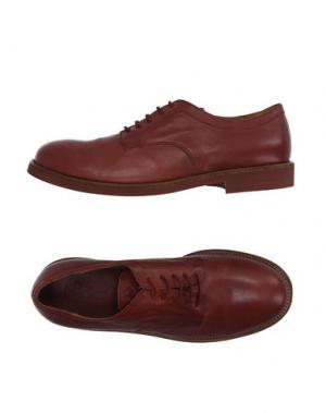 Обувь на шнурках WALKER. Цвет: кирпично-красный