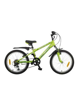 Велосипед 20 EXTREME NOVATRACK. Цвет: зеленый