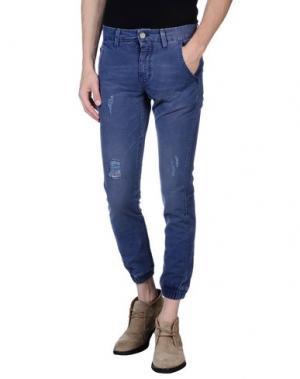 Повседневные брюки ROCK 'N' ROLL. Цвет: пастельно-синий