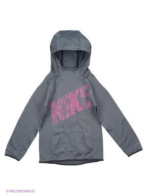 Футболка Dry Miler Running Top - tumbled grey/midnight fog Nike. Цвет: серый