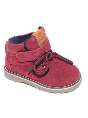 Ботинки Капитошка.. Цвет: бордовый