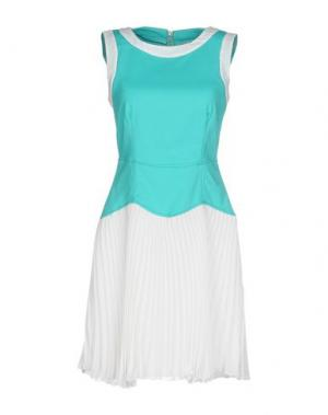 Короткое платье KI6? WHO ARE YOU?. Цвет: бирюзовый