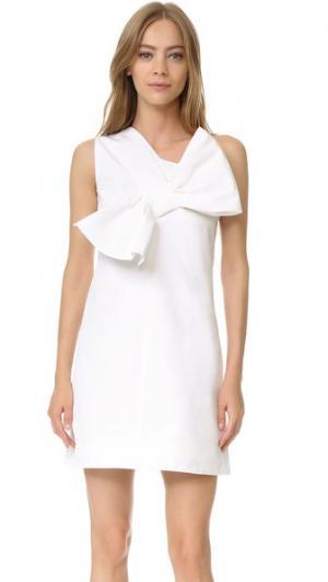 Платье с перекрученным бантом Victoria Beckham. Цвет: оптический белый