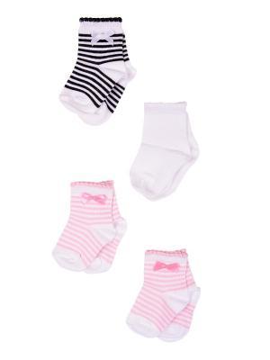 Носки, 4 пары Malerba. Цвет: черный, розовый