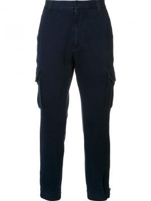 Зауженные книзу брюки с карманами Ag Jeans. Цвет: синий