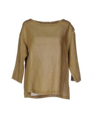 Блузка ZHELDA. Цвет: зеленый-милитари
