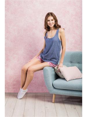 Пижама INDEFINI. Цвет: синий, розовый