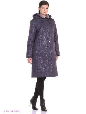 Пальто RIINA Maritta. Цвет: серый, темно-фиолетовый