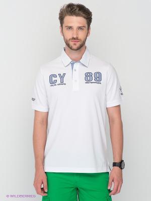 Футболка-поло Claudio Campione. Цвет: белый