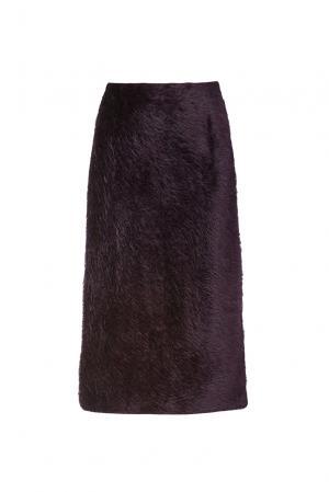 Юбка из шерсти 173141 Villa Turgenev. Цвет: фиолетовый