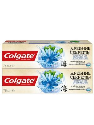 Зубная паста  промо древние секреты безопасное отбеливание 2*75мл COLGATE. Цвет: белый