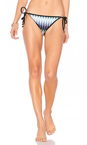 Треугольные плавки бикини с принтом мираж Shoshanna. Цвет: черный